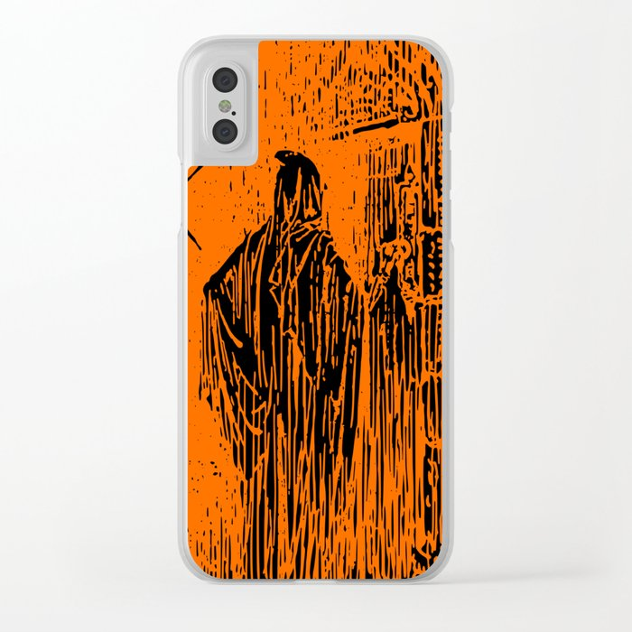 The Ghost at the Door Clear iPhone Case