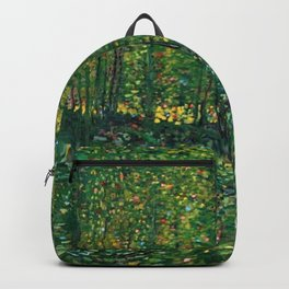 Brush and Underbrush flower and forest landscape by Vincent van Gogh Backpack