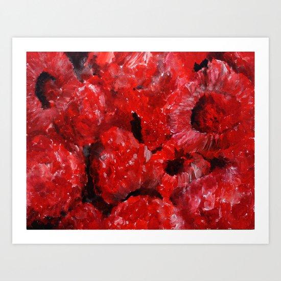 Raspberries - Still Life In Acrylics Original Fine Art Art Print