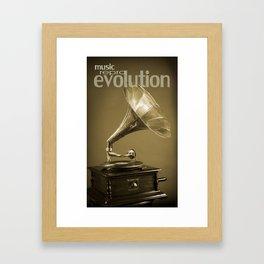 Music Evolution Framed Art Print