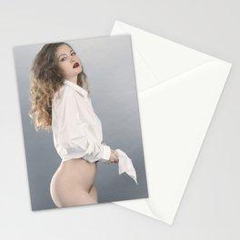 white shirt-2 Stationery Cards