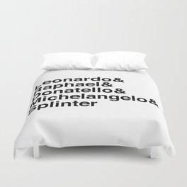 Helvetica Turtles Duvet Cover