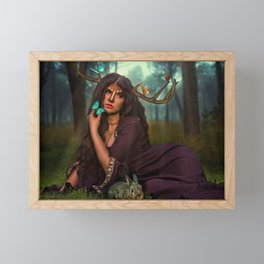 Lady Of The Forest Framed Mini Art Print