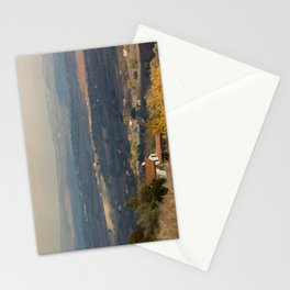 Sunset Italian countryside landscape view Stationery Cards