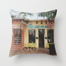 The Original Key Lime Pie Bakery Throw Pillow