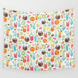 Summer Fruit Cocktail Wall Tapestry