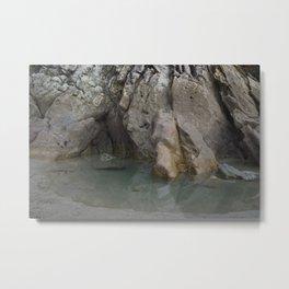 Natural Ocean Rock Pool Reflection Metal Print