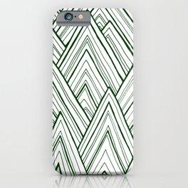 Stripe Mountains - Dark Green iPhone Case