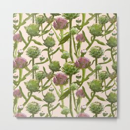 artichoke flowers Metal Print