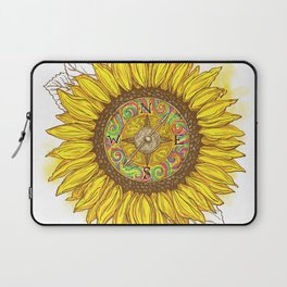 Sunflower Compass Laptop Sleeve