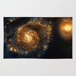 Starry Galaxy Night Rug