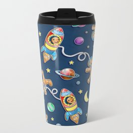 Gingerbread Astronauts Metal Travel Mug