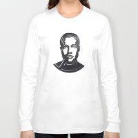 brad pitt Long Sleeve T-shirts featuring Brad Pitt by Alejandro de Antonio Fernández