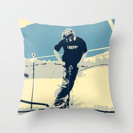 On the Rim - Scooter Boy Throw Pillow