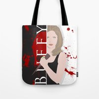 buffy Tote Bags featuring Buffy, the vampire slayer by Rose's Creation