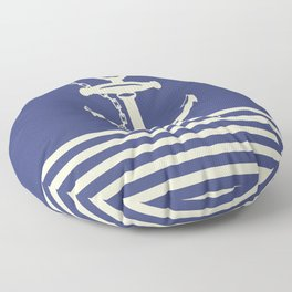AFE Navy & Beige Anchor and Chain Floor Pillow