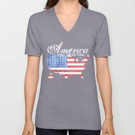 America Home Sweet Home Unisex V-Neck
