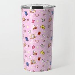cardcaptor sakura pattern pink Travel Mug