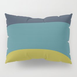 Miracle Rock in Yellow & Blue _Block Colour Pillow Sham