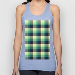 Chequered Unisex Tank Top