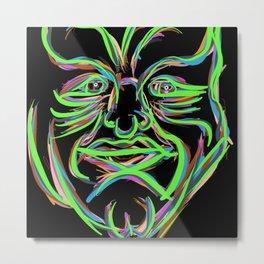 Neon Man Metal Print