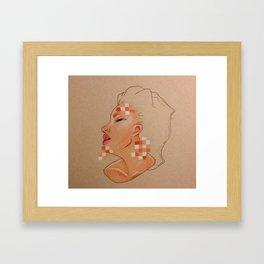 Pixelated Lady  Framed Art Print