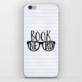 Book Nerd (lined paper) iPhone Skin