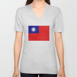 Taiwan flag Unisex V-Neck