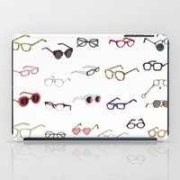 glasses iPad Cases featuring glasses by Janaína Esmeraldo
