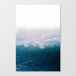 BLUE BEACH BREAK Canvas Print