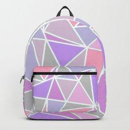 Pastel Shards Geometric Pattern Backpack