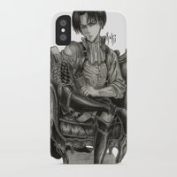 levi iPhone & iPod Cases featuring Levi Ackerman by OtakuRuki