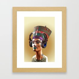 Nefertiti is cool Framed Art Print