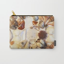 Urchin with Sea Glass and Sand Dollar Carry-All Pouch
