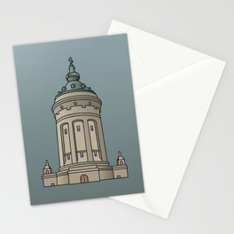 Mannheim water tower Stationery Cards