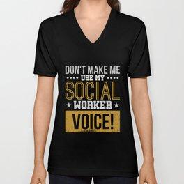 Social Worker  Caseworker Gift Unisex V-Neck