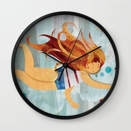 Into the Fishpond Wall Clock