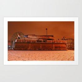 Coney Island - Gregory & Pauls in the winter Art Print