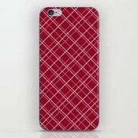 burgundy iPhone & iPod Skins featuring Burgundy Pattern by Christina Rollo