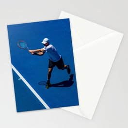 Tennis player Stationery Cards