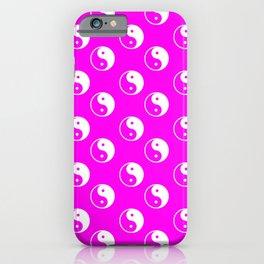 Yin & Yang (White & Magenta Pattern) iPhone Case