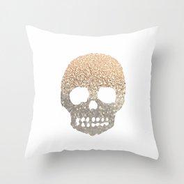 GOLD SKULL Throw Pillow