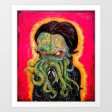 Cthulhu Addams Art Print