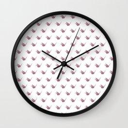 Rose Pink Japanese Crane Origami Wall Clock