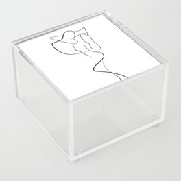 Lovers - Minimal Line Drawing 1 Acrylic Box