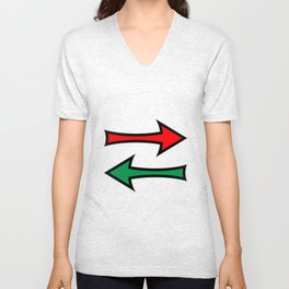 Left And Right Direction Arrows Unisex V-Neck