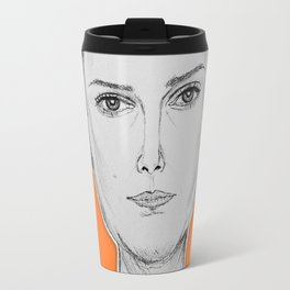 (The Most Beautiful Woman - Natalie Portman) - yks by ofs珊 Travel Mug