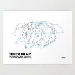 Silverstar, BC - Downhill - Minimalist Summer Trail Art Art Print
