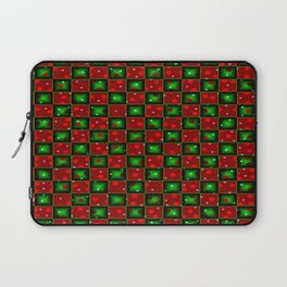 Christmas checkerd design with a twist Laptop Sleeve