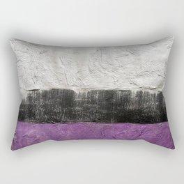 Purple Silver Rectangular Pillow